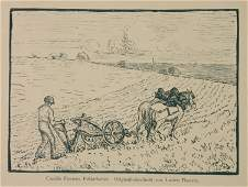 Lucien Pissarro woodcut
