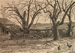 Grace Albee wood engraving