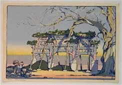 Cyrus Baldridge woodcut in color
