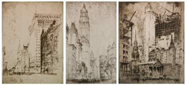 3 Joseph Pennell etchings