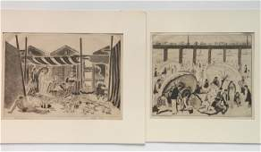 2 Salvatore Pinto etchings