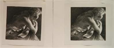2 Raphael Soyer lithographs