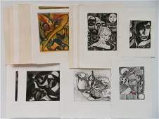 P. A. Laird 17 etchings