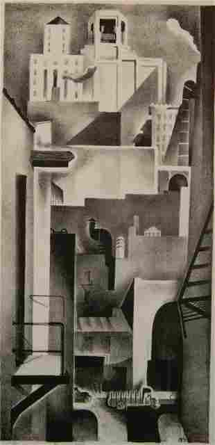 Benton Spruance lithograph