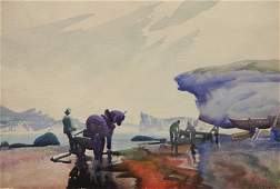 Frank Wilcox watercolor