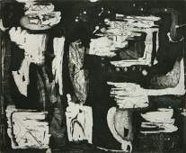 Louise Nevelson etching and aquatint