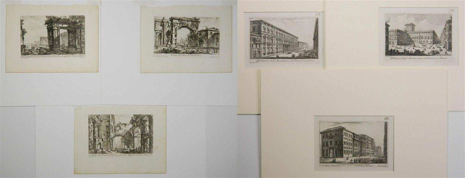 6 Giovanni B. Piranesi etchings