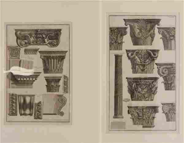 4 Giovanni B. Piranesi etchings