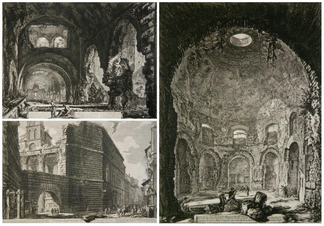 3 Giovanni B. Piranesi etchings