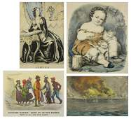4 Currier & Ives lithographs