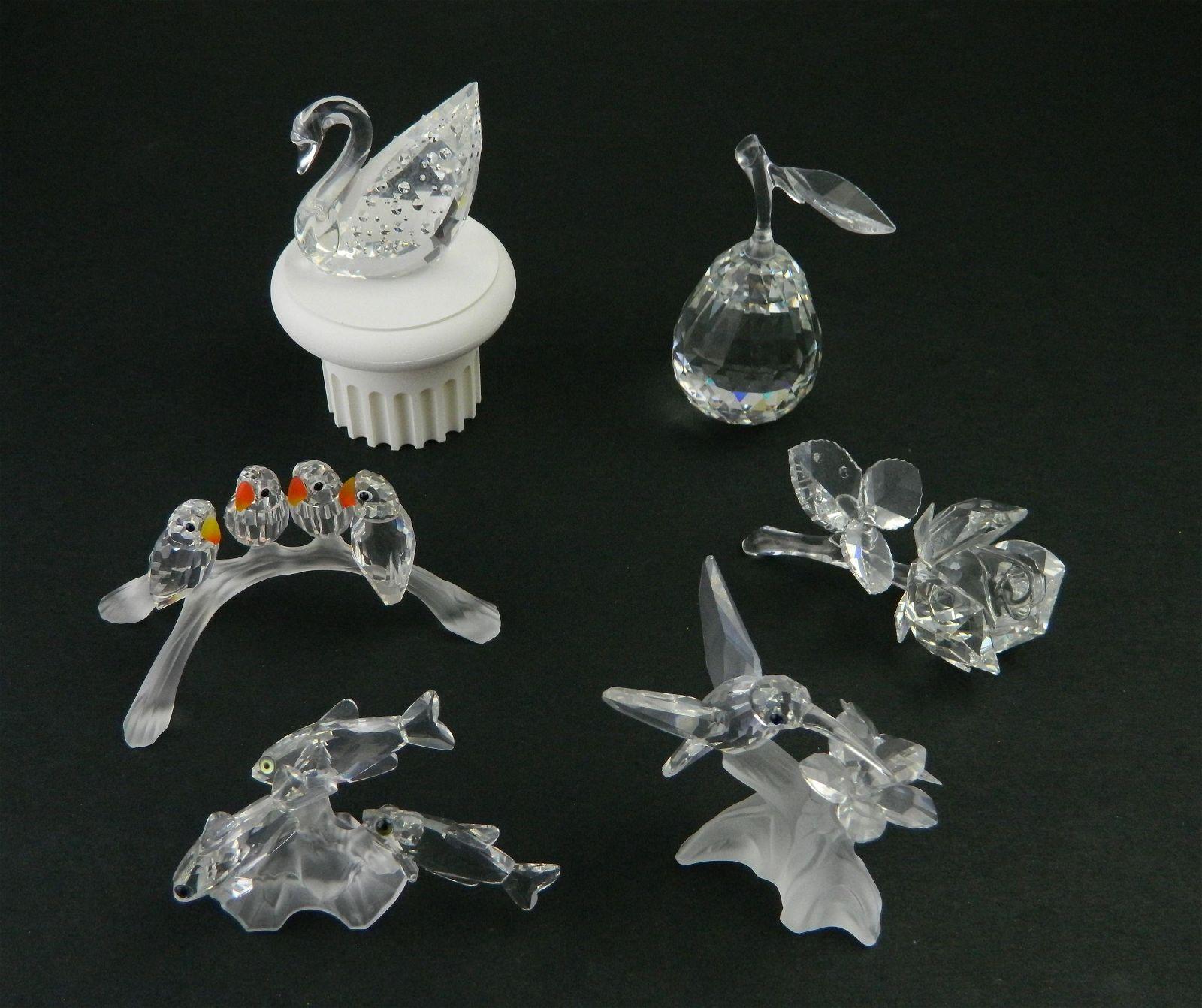 6 Swarovski crystal figurines