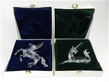2 Swarovski crystal 'Fabulous Creatures' figurines