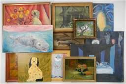 9 Folk art oils