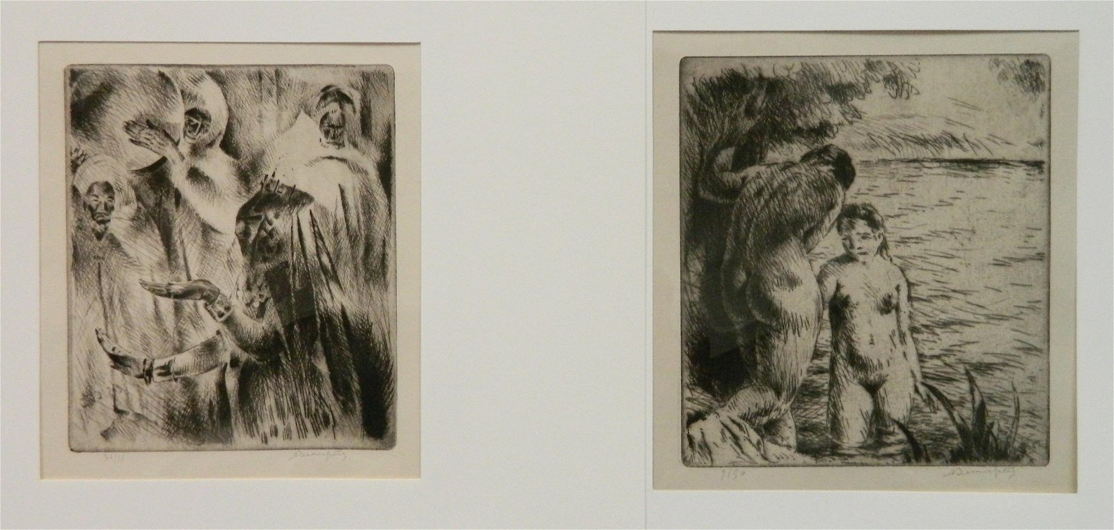 2 Adolphe Beaufrere etchings