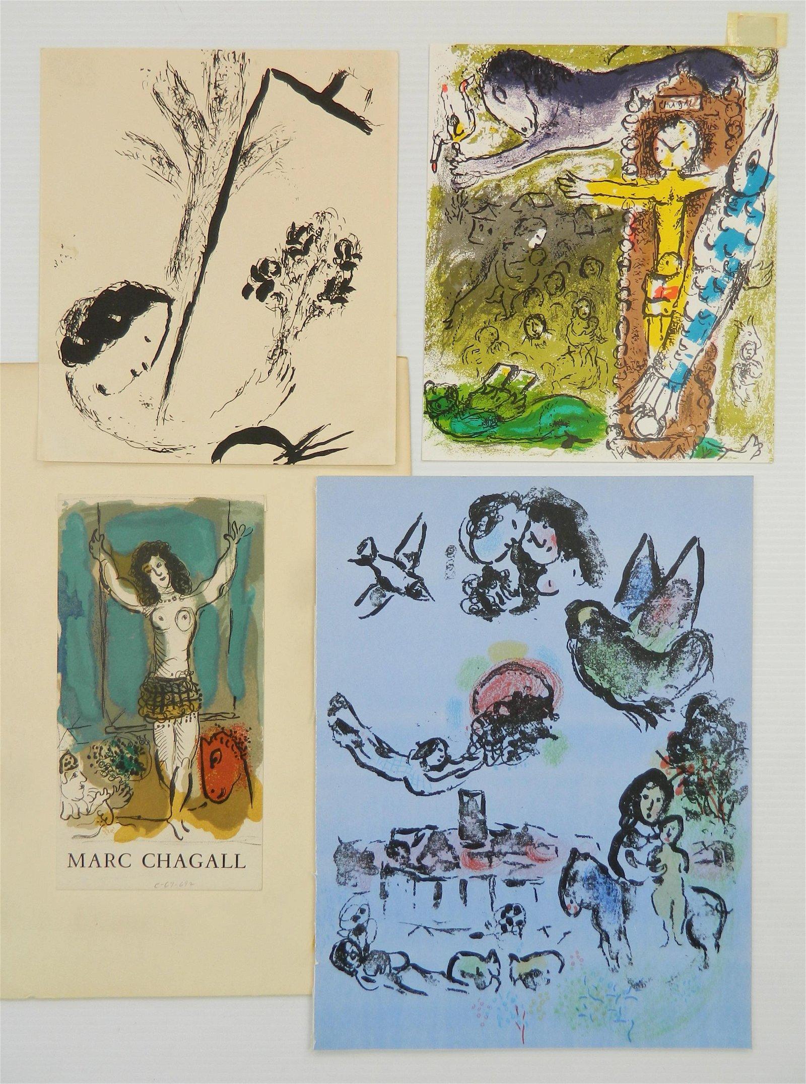 4 Marc Chagall lithographs