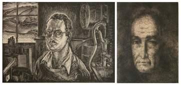 2 American prints Portraits