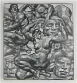 John J. A. Murphy painted woodblock