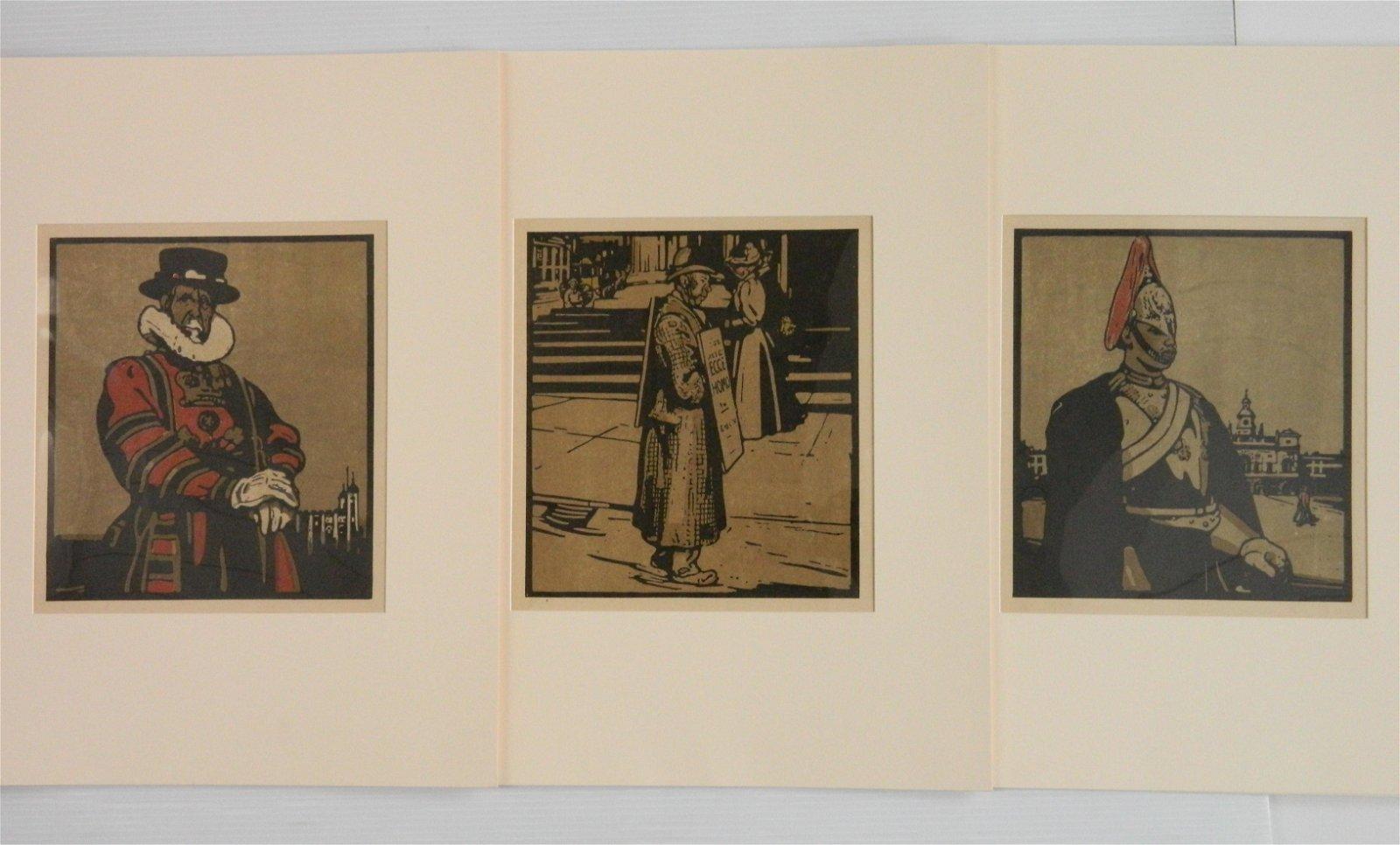 3 William Nicholson lithograph