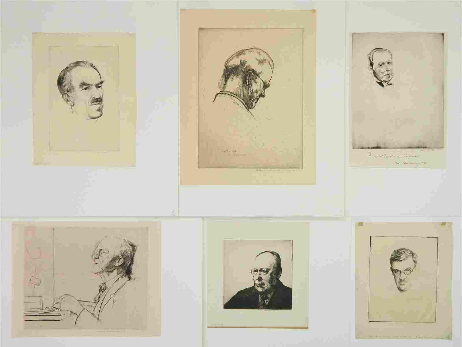 6 American portrait prints