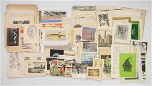 20th c. American cards and etchings