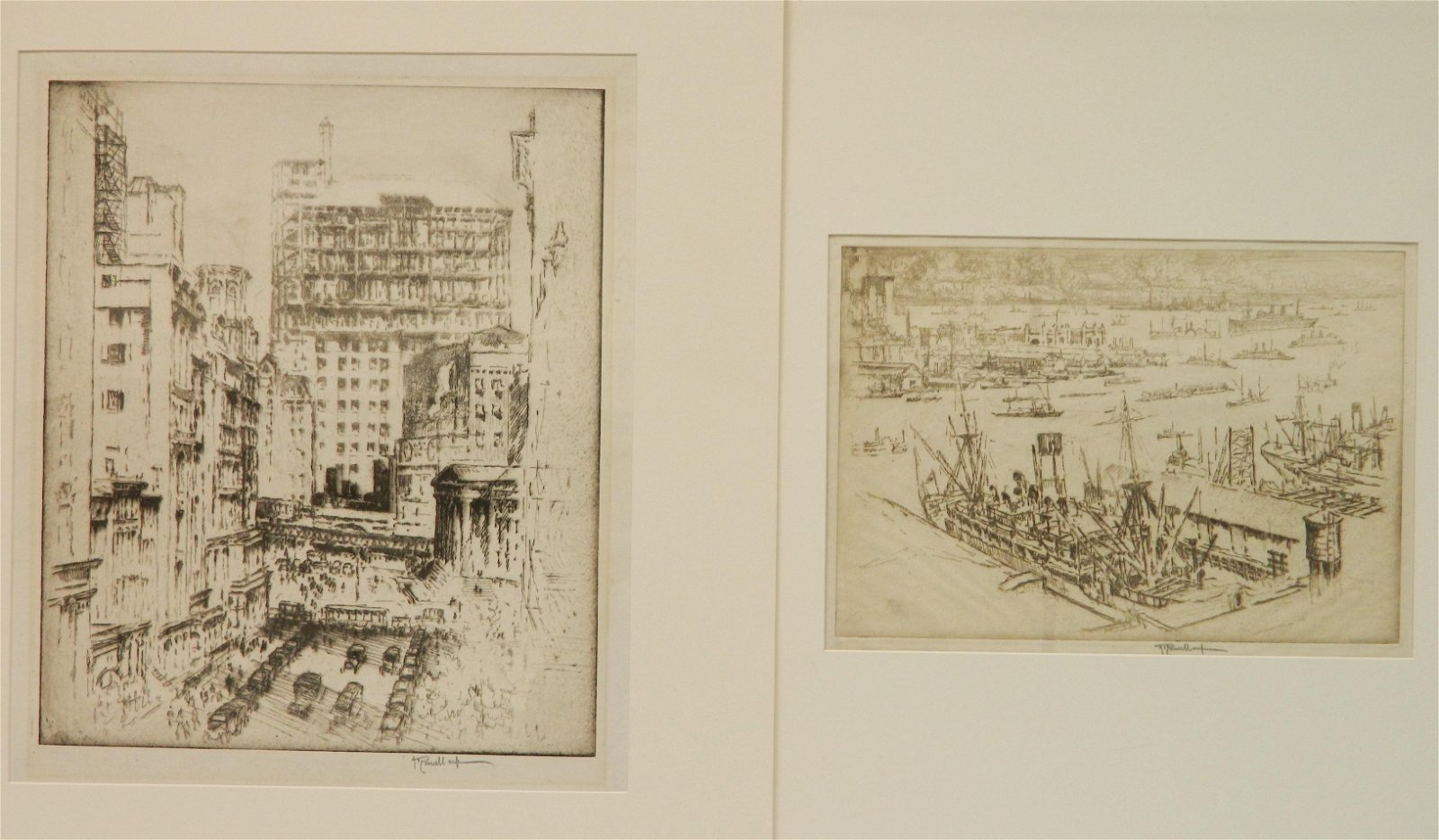 2 Joseph Pennell etchings