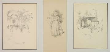 3 James A. M. Whistler lithographs