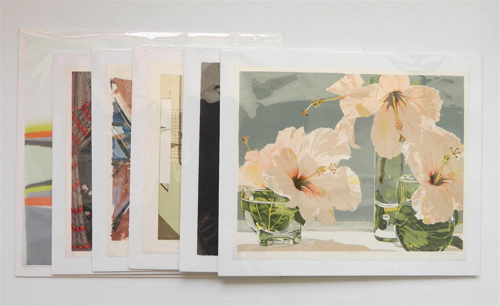 6 Contemporary prints
