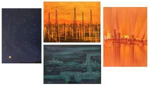 Richard Florsheim 4 lithographs in color