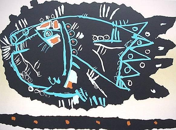 12: 20th c. American School- ''Ceramica''- lithograph