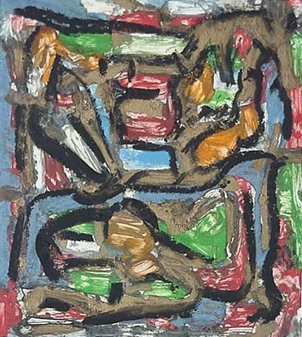 15: ''Spells''- monoprint, 1994, signed (Geo?), dated,