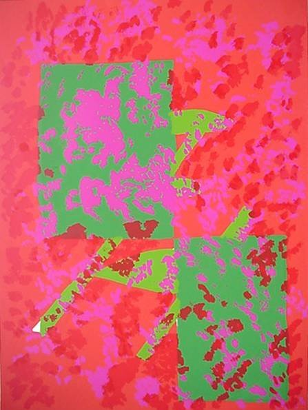16: 20th c. American School- Untitled (Abstract)- silks