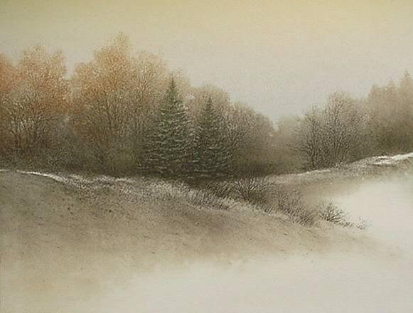 20: Arnold Alaniz- ''Sentinels''- lithograph