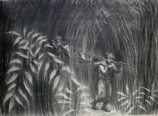 22: Howard Baer- ''Ambulance Jungle Style''- lithograph