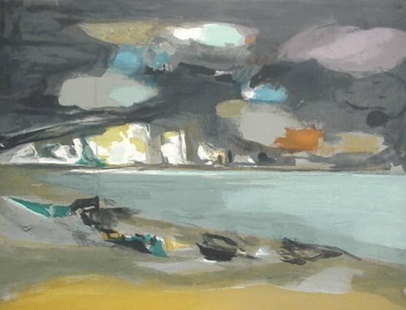 147: Marcel Mouly- Landscape- lithograph in colors, sig