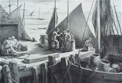 151: Alice Harold Murphy- ''Fish Stories'', lithograph,
