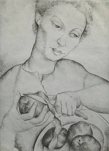 232: Luis Quintanilla- ''Paulette'', etching, signed in