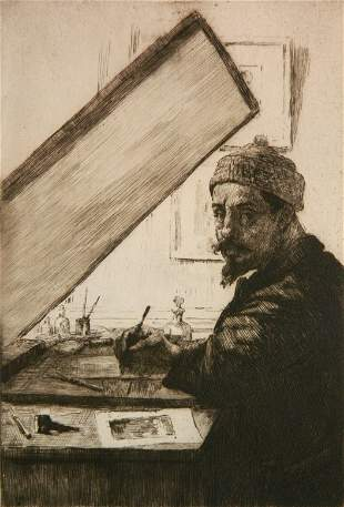 Alexandre Lunois etching