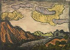 Jakob Steinhardt woodcut in colors