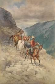 Herman W. Hansen watercolor