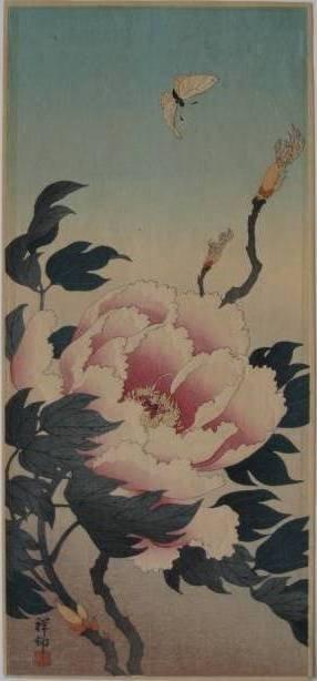 16: Shoson Ohara- ''Peony''- woodblock