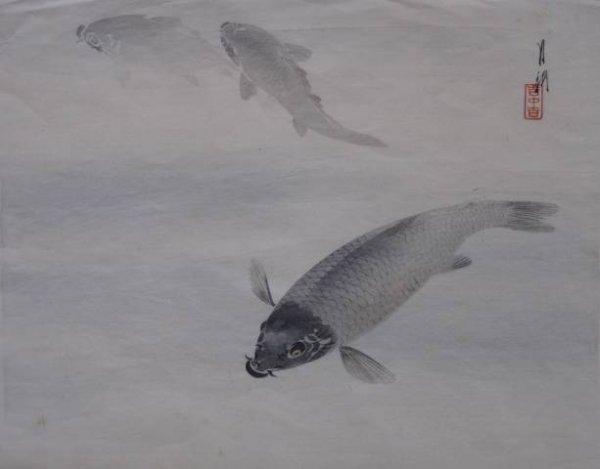 17: Gekko Ogata- fish- woodblock