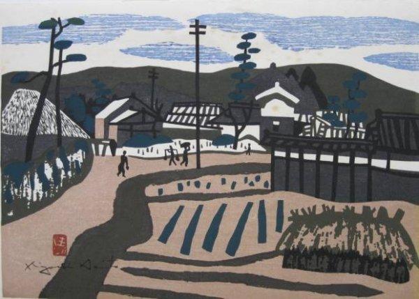 20: Kiyoshi Saito woodcut