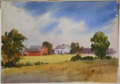 Ernest Spring watercolor