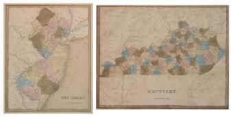 2 US maps- New Jersey & Kentucky