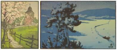 2 European woodcuts