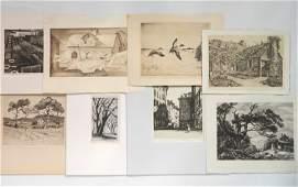 8 American prints