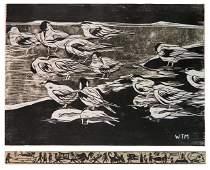 Walter Matia woodcut