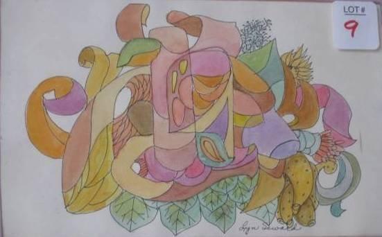 9: 3 watercolors