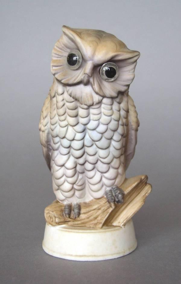 13: Bisque owl figurine