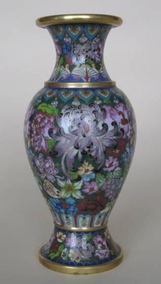 15: Cloisonne vase